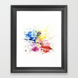 Underwater rainbow : the seahorse Framed Art Print