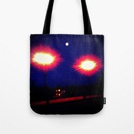 Lights on a Bridge Tote Bag