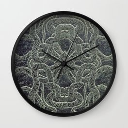 Slate engraved Snake Wall Clock