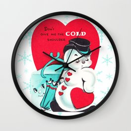 """Cold Shoulder"" Wall Clock"
