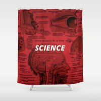 science Shower Curtains featuring Science by dreamshade
