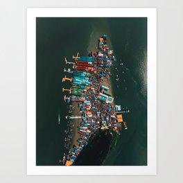 Koh Panyee From Above Art Print