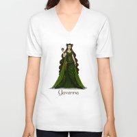 valar morghulis V-neck T-shirts featuring Yavanna by wolfanita