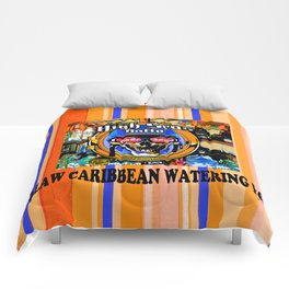 SKULL OUTLAW CARIBBEAN SALOON AND BAR Comforters