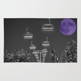 Chair Lift to the Purple Moon Rug