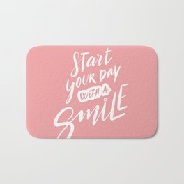 Start Your Day with a Smile Bath Mat