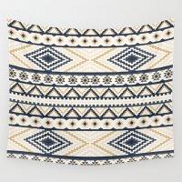 aztec Wall Tapestries featuring AZTEC by Oksana Smith