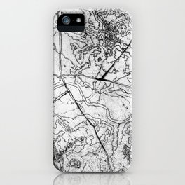 Mapping it out iPhone Case