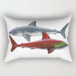 Salmon Sharks Rectangular Pillow