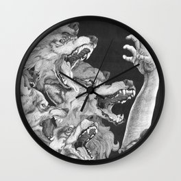 The Wolves are Coming Wall Clock