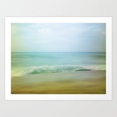 Beach Impression Art Print