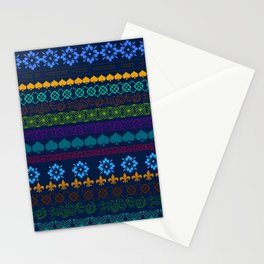 Mountain Midnight Folk Art Stationery Cards