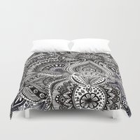 zentangle Duvet Covers featuring zentangle by paucarbajal