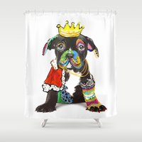"prince Shower Curtains featuring Prince ""Dog"" by zAcheR-fineT"