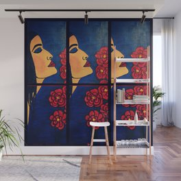 Dulce Dianthus - Triptych Wall Mural