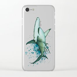 """""""Great Hammerhead Shark"""" by Amber Marine ~ Watercolor Painting, (Copyright 2016) Clear iPhone Case"""