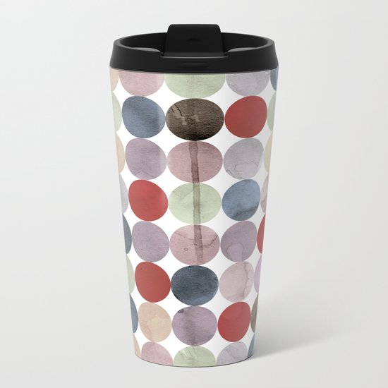 Winter Polka Dots Metal Travel Mug