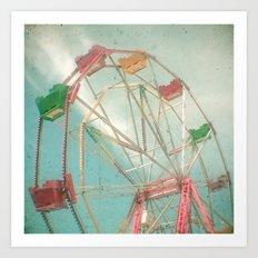 Big Wheel II Art Print
