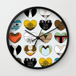 SW Character Hearts Wall Clock