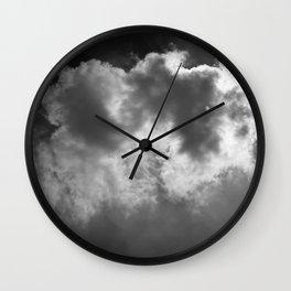 Lone Cloud (over Manhattan) Wall Clock