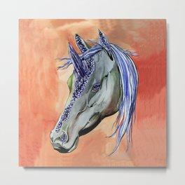 Geode Unicorn Metal Print