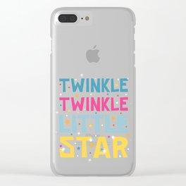 Twinkle Twinkle Little Star Clear iPhone Case