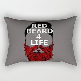 Red Beard for Life Rectangular Pillow