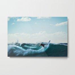 Wave Series Photograph No. 4 - Big Swells at Mavericks Beach Metal Print