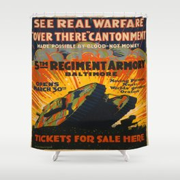 Vintage poster - Fifth Regiment Armory Shower Curtain
