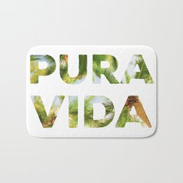 Pura Vida Costa Rica Palm Trees Bath Mat