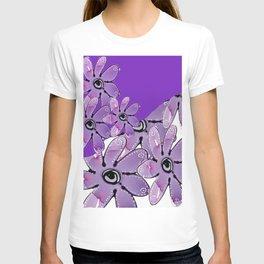 PURPLE MULTI FLORAL T-shirt