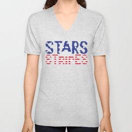 4th Of July Independence Day Stars & Stripes Unisex V-Neck