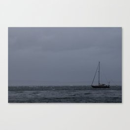 Sail into the storm Canvas Print