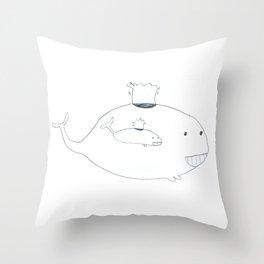 Baleineau Throw Pillow