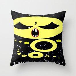 Alien contact. Throw Pillow
