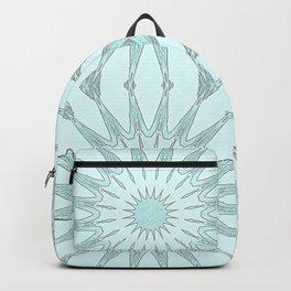 Aqua Pinwheel Flowers Backpack