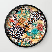 into the wild Wall Clocks featuring Wild by RIZA PEKER