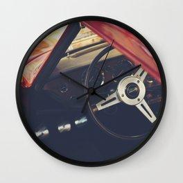 Triumph spitfire, english sports car fine art photography, classy man cave print Wall Clock