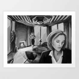 Scully x Stella x Bedelia Art Print