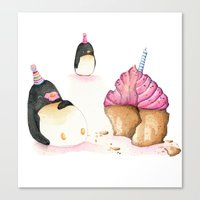 cupcake Canvas Prints featuring Cupcake by Rebecca Cox