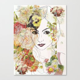 Lady of the Flowers  Canvas Print