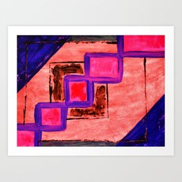 """Hot-Pink on Pink"" Art Print"