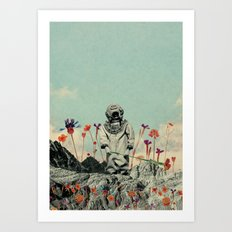 Lonely Diver Art Print