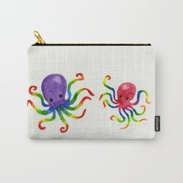 Little Rainbow Octopuses Carry-All Pouch