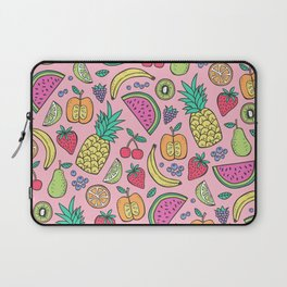 fruit on pink Laptop Sleeve