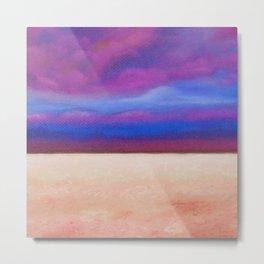 Red Salt Desert / Pastel Painting Metal Print