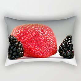 Strawberry Blackberry Rectangular Pillow