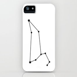 Leo Astrology Star Sign Minimal iPhone Case