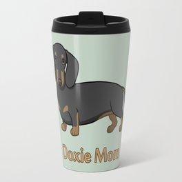 Cute Black Tan Dachshund Dog Doxie Mom Travel Mug