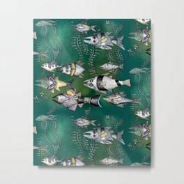 Strange Sea Fish Metal Print